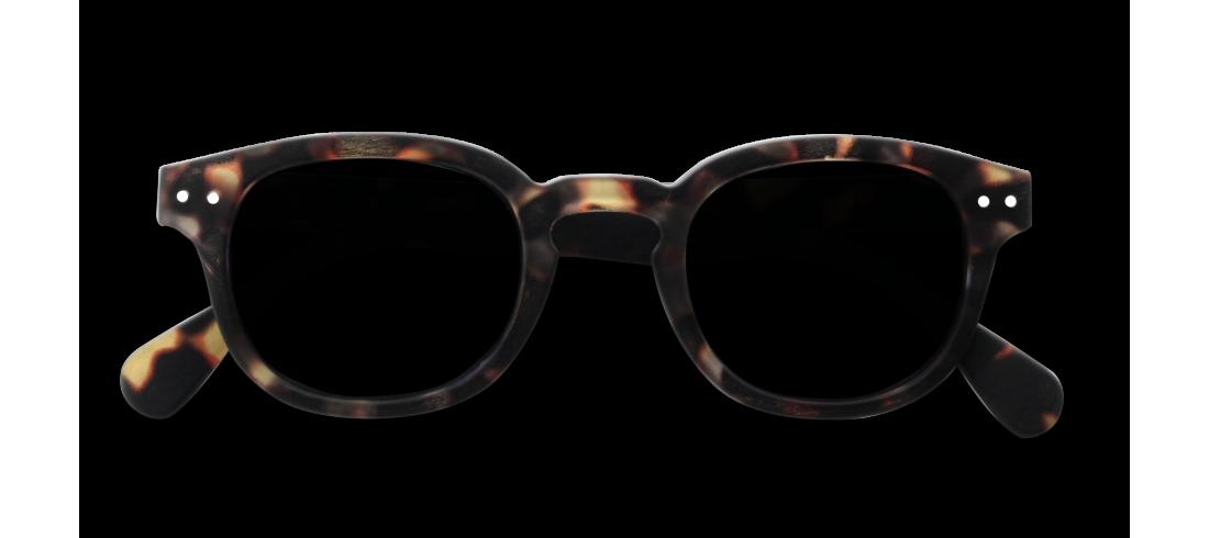 Solbriller #c mstyrke tortoise soft grå +0.0 Backe i Grensen