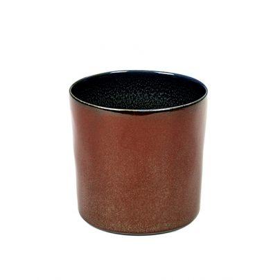 Kopp høy 7,5cm rust/mørkblå