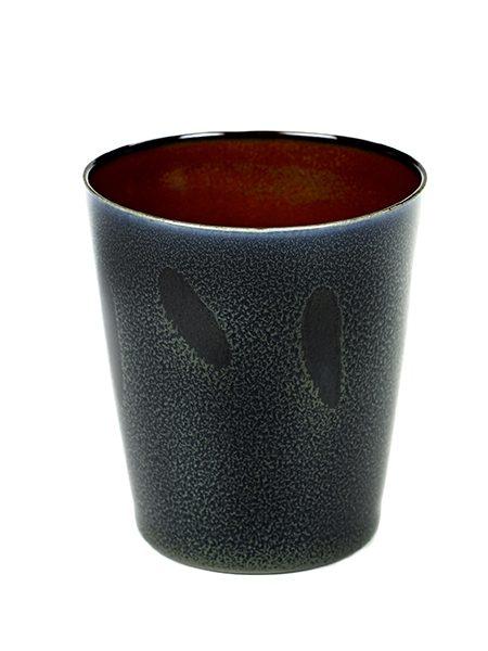 Kopp konisk mørkblå/rust