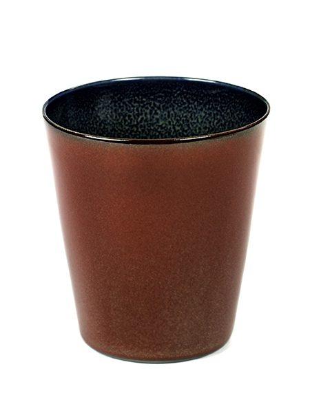 Kopp konisk rust/mørkblå