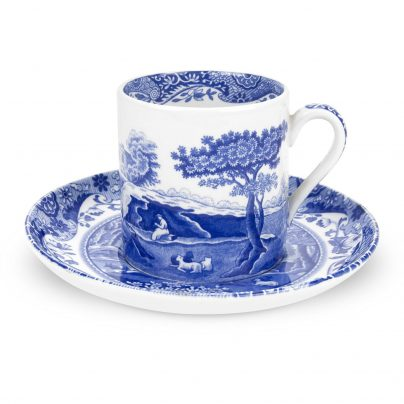 BLUE ITALIAN MOKKAKOPP 0,1L OVER/UNDER SPODE