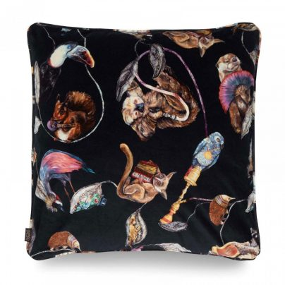 Hackney Empire Large velvet cushion midnight Inside Too
