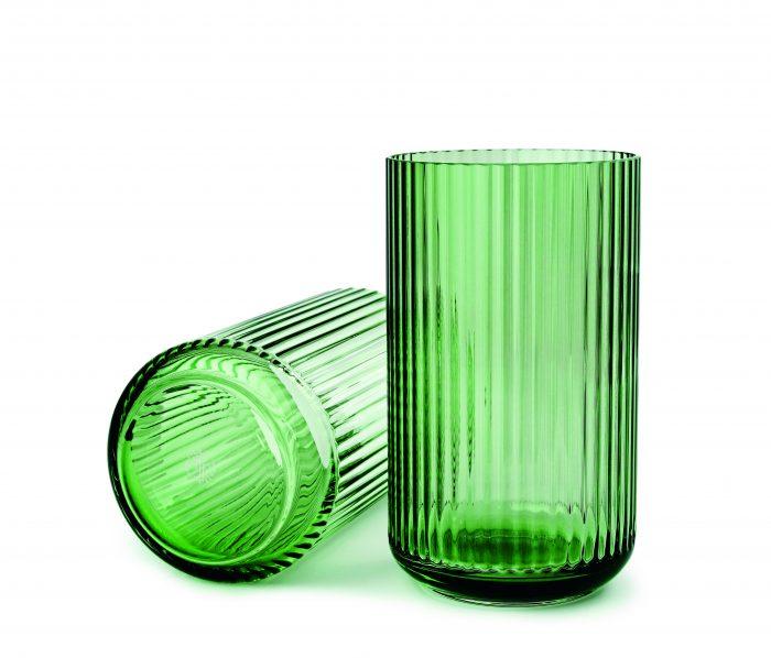 Lyngby_vase_25cm_glass_grønn