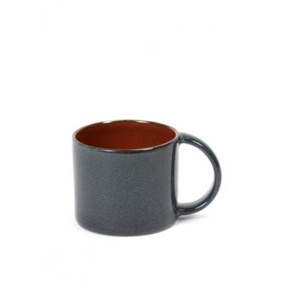 Espressokopp mørkblå/rust