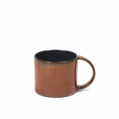 Espressokopp rust/mørkblå