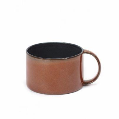 Kaffekopp rust/mørkblå