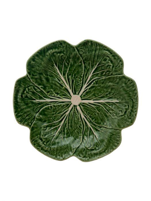 Bordallo Pinheiro_kål_grønn_tallerken_26cm