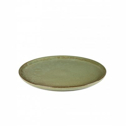 Tallerken flat 27cm camogrønn