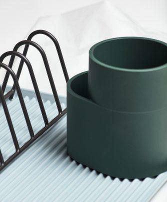 Oppvaskeholder mørk grønn silikon