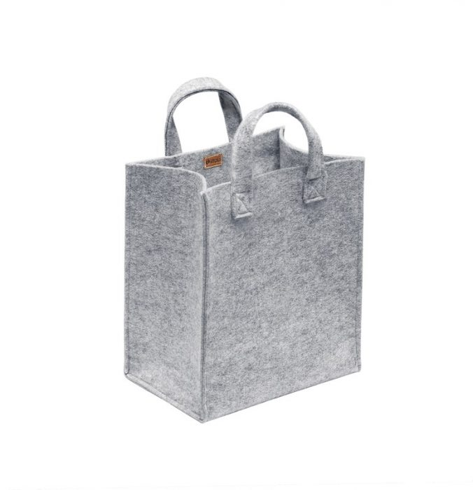 Meno home bag 350x300x200mm grey felt_JPG