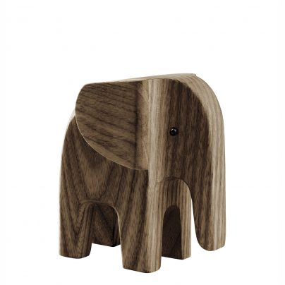 Elefant baby smoked stained ash wood