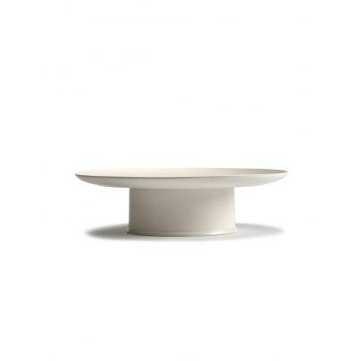 Kakefat på stett 33cm off-white