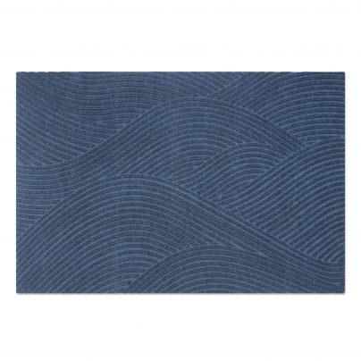 Matte + stor 87x130cm blå