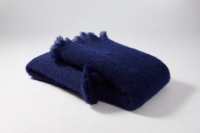 Pledd 130 x 200 cm marineblå