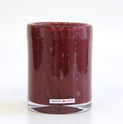 Lyslykt 13x10cm claret rød