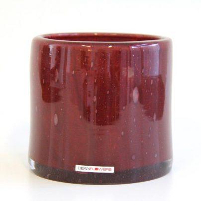 Lyslykt 15x15cm claret rød