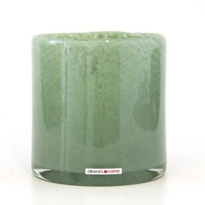 Lyslykt 15x15cm mineral grønn