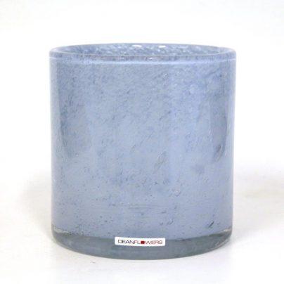Lyslykt 15x15cm pastell blå