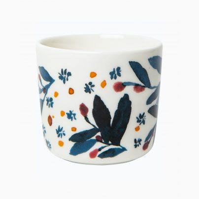 Kaffekopp 2dl u/hank hvit/flerfarget