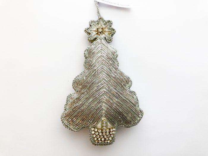 Juletre sølv/perler/krystaller