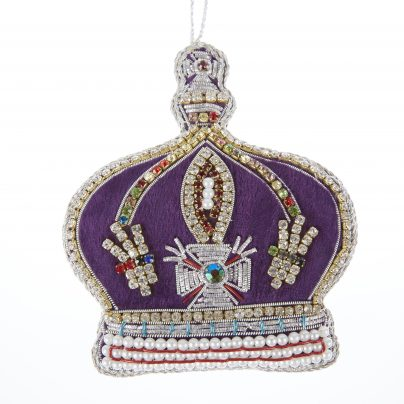 Krone lilla/perler/krystaller