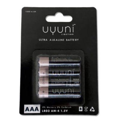 Uyuni Lighting Batteri 4pk AAA