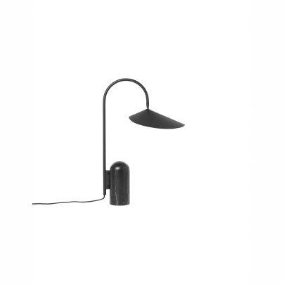 Bordlampe H51cm marmor/stål sort